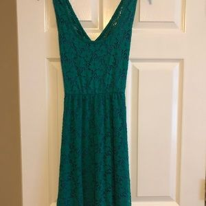 Love Notes - Green Lace Dress